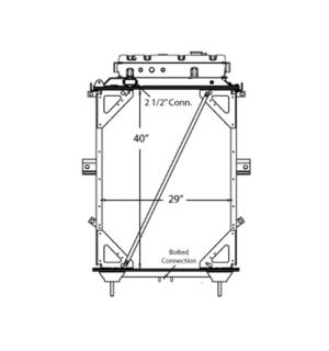 Kenworth T/W Series Yr: 96-07 Radiator – OEM: Spi20012504