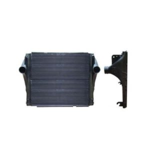 "Peterbilt 2007 – 2010 Model 377, 378, 385, 387, 388, 389 Bar&Plate Design *Bracket On Bottom 3.00 "" Center Mount To Tank End* Charge Air Cooler OEM: W6932001"