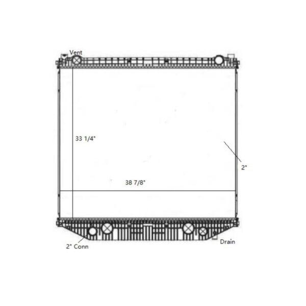 freightliner 114sd 2012 2014 radiator oem 527409001