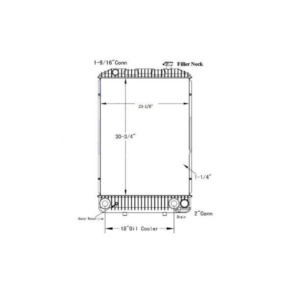 gmc low cab forward t series 97 02 radiator oem 52470226