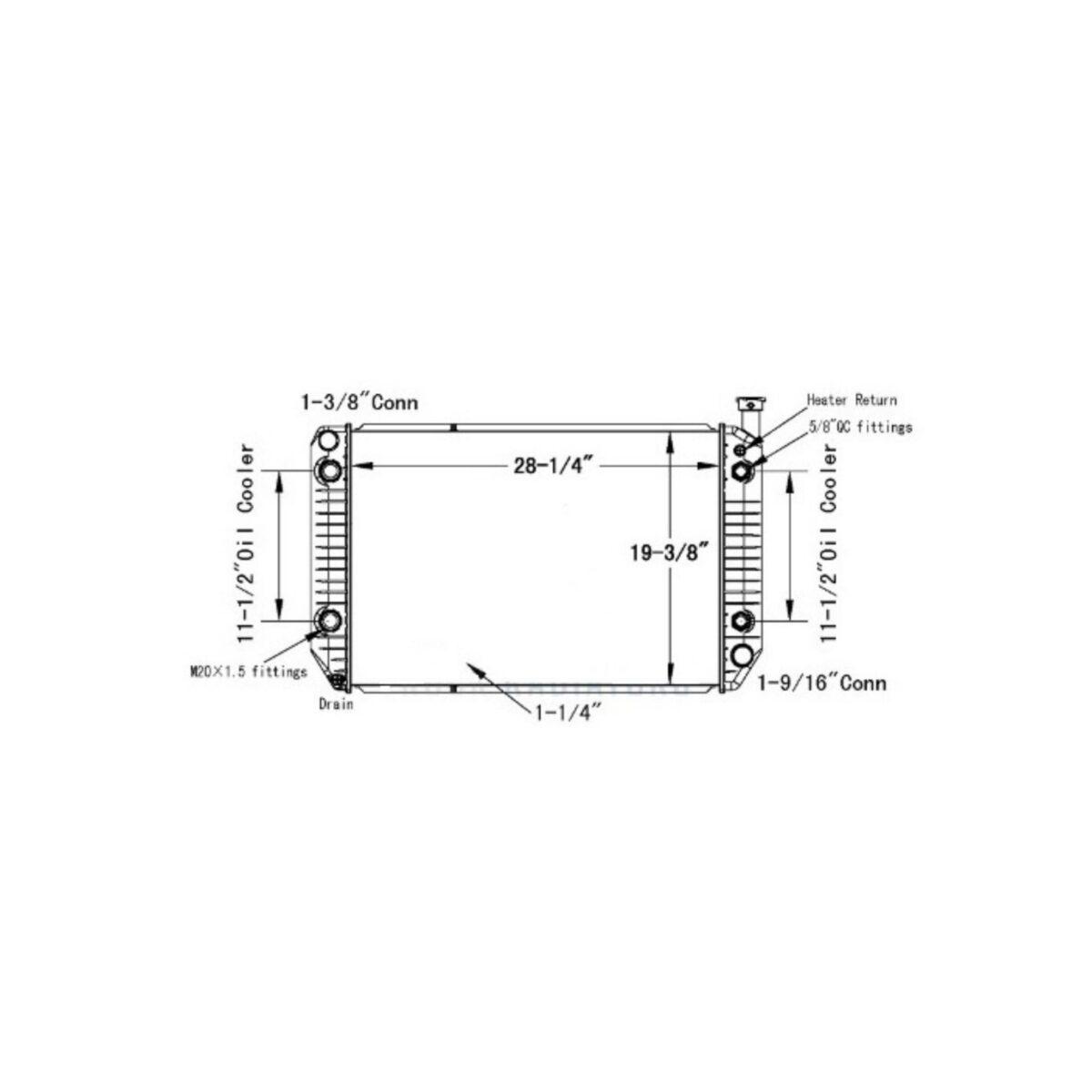 gmc p30p3500 98 08 radiator oem 52473153
