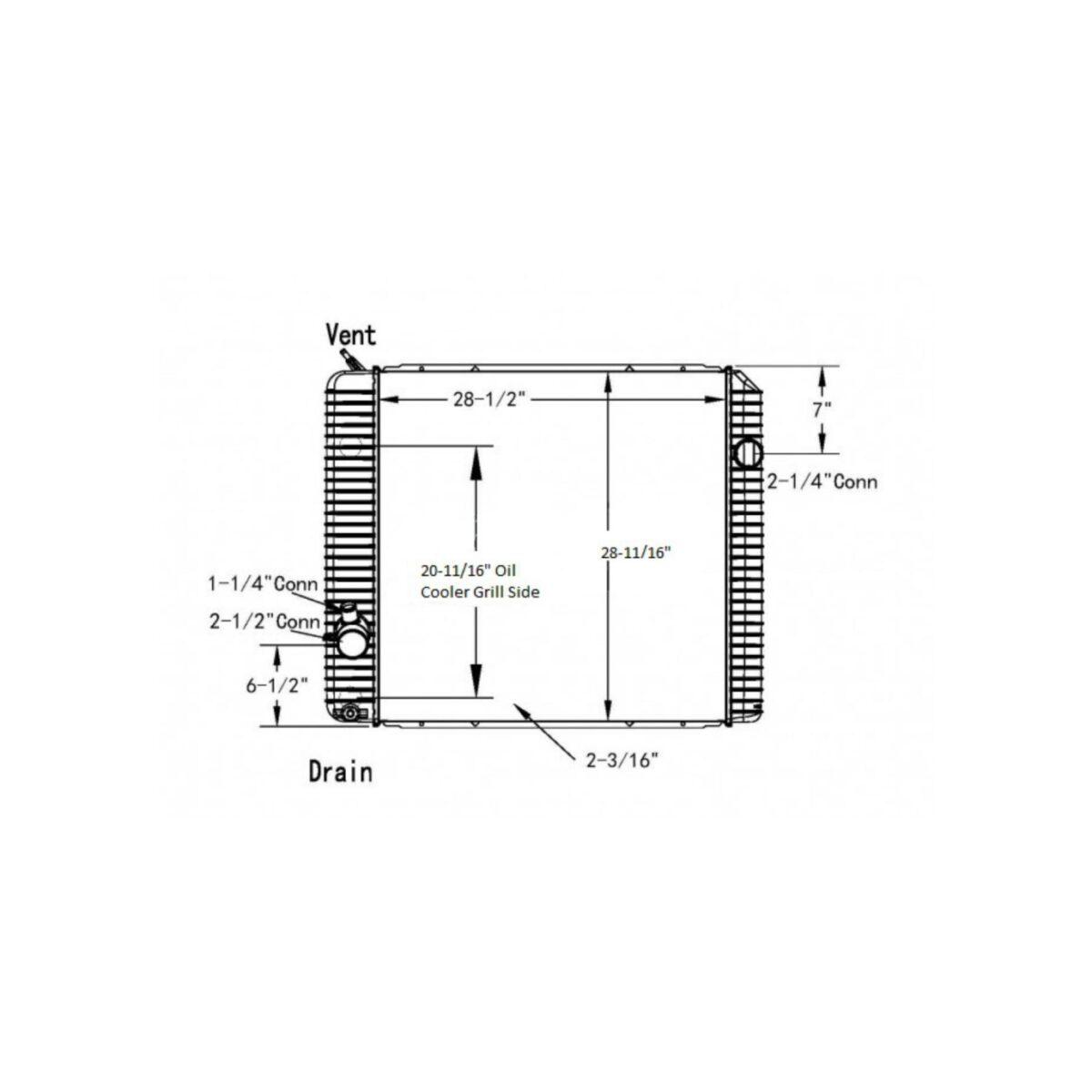 international 4400durastar 2011 2017 radiator oem 2593302c91