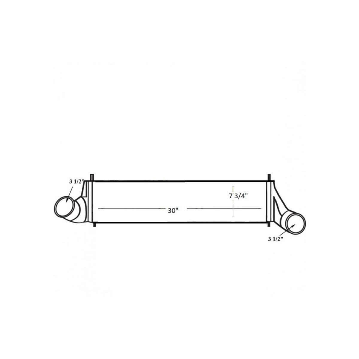 international durastar 2014 charge air cooler oem 2613048c91 2