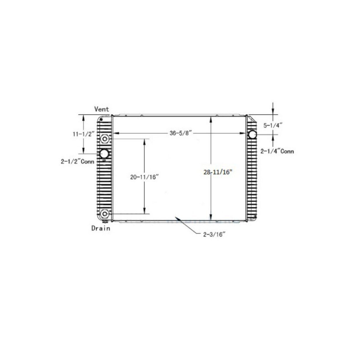 international durastar 4300 series 12 13 radiator oem 2602926c92