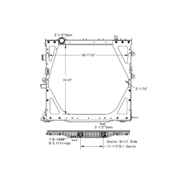 international prostar radiator oem 2604400c94