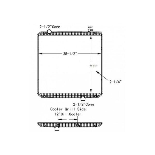 international prostartranstar 08 10 radiator oem 2594850c91