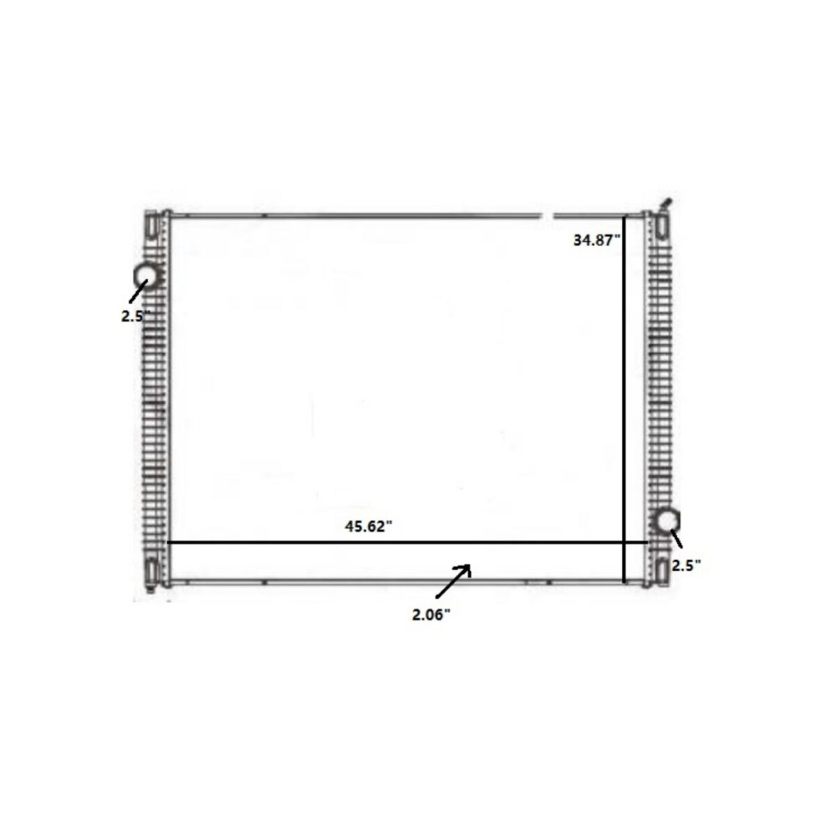 international workstar 08 10 radiator oem 1003715gs