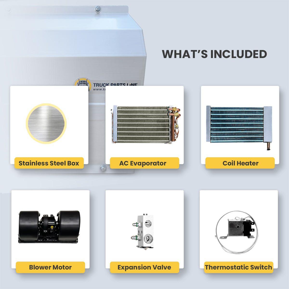 kenworth stainless steel hvac box heater ac box assembly 5 copy min